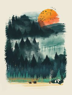 Wilderness Camp Art Print by Dan Elijah G. Fajardo | Society6