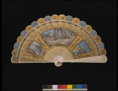 The French firm of Alexandre made this superb brisé fan for the 1867 Paris Universal Exhibition~painter Edouard Jean-Baptiste Moreau.