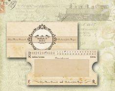 ESCORT CARD Vintage Printable  Train Ticket New Orleans by ABandIG, $15.00