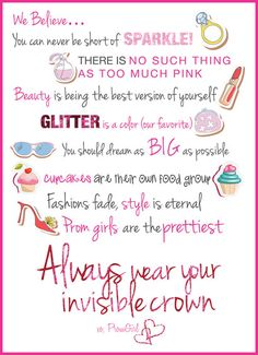 """""""Happy"""" girls are the prettiest girls. always wear your invisible crown! Love Me Quotes, Quotes To Live By, Pageant Quotes, Sparkle Quotes, Invisible Crown, Hand Lettering Quotes, Prom Girl, Girly Things, Girly Stuff"""