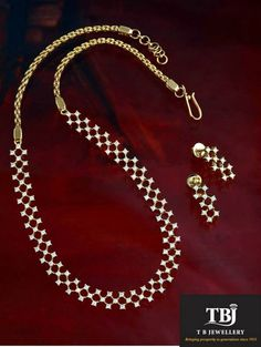 The harmonious blend of Gold and Diamond #tbjewellery #diamonds #girlslovediamonds #necklace #goldenmoments #gold