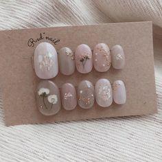 """Red """"nail nail design [No. Nail Art Cute, Cute Acrylic Nails, Glitter Nail Art, Cute Nails, Pastel Nails, Korean Nail Art, Korean Nails, Asian Nail Art, Minimalist Nails"""