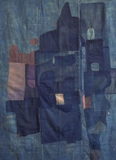 Boro textiles are usually sewn from nineteenth and early twentieth century rags and patches of indigo dyed cotton.
