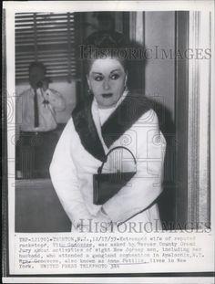 1957 Press Photo Estranged Wife OF Vito Genovese, Anna Patillo, Asked BY THE Jury