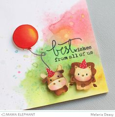 watercoloring with lighter stamped images, love this look and I must try it.