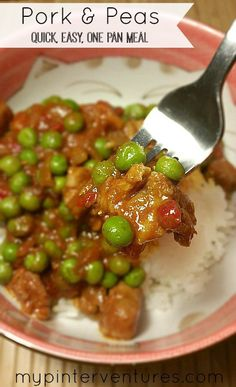 and Peas - one pan meal Pork-and-Peas - A quick, easy, one pan meal.Pork-and-Peas - A quick, easy, one pan meal. Pea Recipes, Asian Recipes, Dinner Recipes, Pork Cubes Recipes, Dinner Ideas, Savoury Recipes, Lunch Ideas, Pork And Peas Recipe, Peanuts