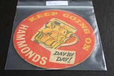 1960 Beermat Hammonds United (Yorkshire) Cat 079 (1T94) 7/14) ,