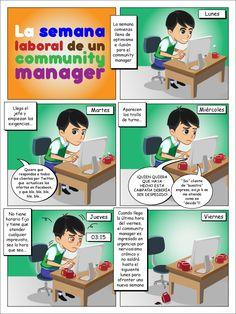 La semana laboral de un community manager