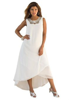 60's 70's VINTAGE White Gauze Greek Goddess Sleeveless Sundress ...