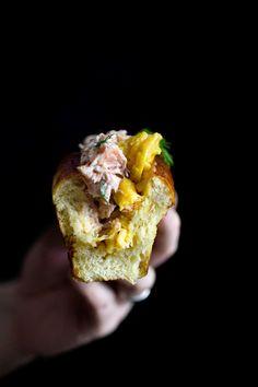 A CUP OF JO: Salmon Scrambled Egg Rolls