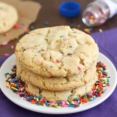 Homemade Funfetti Cookies - made completely from scratch, no cake mix!