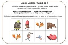 Jeu de langage French Kids, Petite Section, Pajama Party, Activities For Kids, Education, Pierrot, Questions, Cycle 1, Pirate