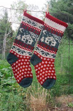 Cabin Christmas Stocking | Craftsy