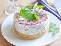 Cheese-cake au saumon fumé et radis