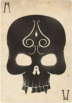 Ace of Spades card design by Felix Blommestijn. Cool Playing Cards, Cool Cards, Art Carte, Ace Of Spades, Stencil Art, Skull And Bones, Skeleton Bones, Deck Of Cards, Card Deck