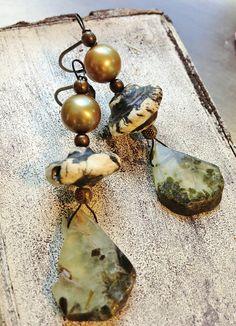 by Sheri Mallery, Bohemian Gypsy Handmade Earrings of by SheriMalleryHandwork.etsy.com $41.00