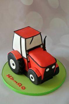 Little red tractor - Cake by Klara Liba