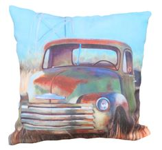 Chevy Truck Pillow - $42.00  (From our Montana-made Home collection at DistinctlyMontanaGifts.com)