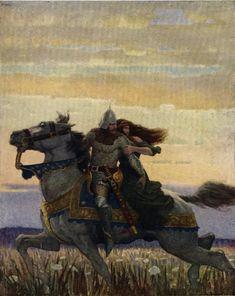 N. C. Wyeth | Launcelot and Guenevere - N.C. Wyeth - WikiPaintings.org