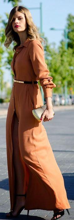 Dolores Promises Rust Button Up Maxi Shirt Dress by Ms Treinta Shirt Over Dress, Shirt Dress Button Up, Maxi Shirt Dress, The Dress, Dress Skirt, Party Fashion, Look Fashion, Autumn Fashion, Sexy Dresses