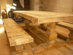 2m Reclaimed Elm Pedestal Dining Table