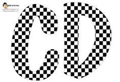 Alfabeto tablero de ajedrez.