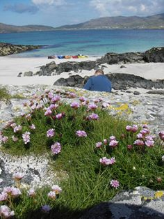 Beach on Vatersay, The Island of Barra, Scotland which is on the very fringe of Europe, the Outer Hebrides are amongst the most beautiful islands in the world
