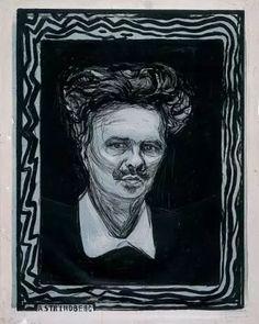 Edvard Munch: August Strindberg, 1896. Munchmuseet