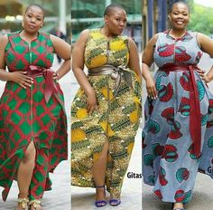 Credit to : 'Deliciously curvy' range by Gitas Portal African Dresses For Women, African Print Dresses, African Print Fashion, Africa Fashion, African Attire, African Wear, African Fashion Dresses, African Women, Curvy Fashion