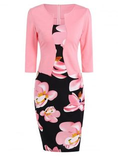 GET $50 NOW | Join RoseGal: Get YOUR $50 NOW!http://www.rosegal.com/bodycon-dresses/belted-flower-print-blazer-patchwork-843484.html?seid=7857365rg843484