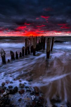 A foreboding sunset, Denmark, by Fred Åge Hol, on 500px.(Trimming)