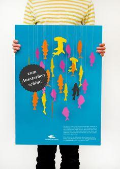 Greenpeace Plakat gegen Überfischung der Weltmeere.