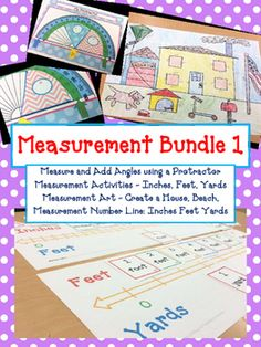 Measurement Bundle 1 - Includes 4 Measurement Hands-On Activities at a Huge Discount-Measurement Activities - Inches, Feet, Yards-Measurement Art - Create a House, Beach,-Measurement Number Line: Inches Feet Yards-Measure and Add Angles using a Protractor*********************************************************Measurement Math ActivitiesUsing inches, feet, and yards.Including:Measurement PosterScavenger Hunt ActivitiesConversion Activities and Question…