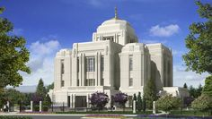 Rendering of Meridian Idaho Temple released to the public by the Church of Jesus Christ of Latter-Day Saints via http://MormonTemples.org   This will be the second temple in our valley.  The church recently created the new Nampa Idaho Mission.  The church is growing quickly in my home area.