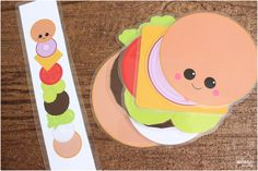 This build a burger set allows your child creativity in building their own burger and teachable moments for parents with the burger pattern sets.