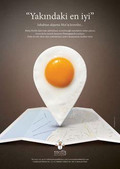 Mut'iş mutfak işleri basın ilanı Food Graphic Design, Food Poster Design, Creative Poster Design, Creative Posters, Graphic Design Posters, Ad Design, Graphic Design Inspiration, Exhibit Design, Booth Design