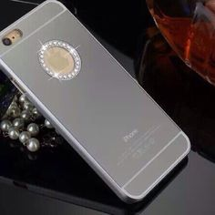 Silver diamond mirror case for iphone6 Christmas All colors available for iphone6/6S and iPhone 6 Plus if your model and color not listed please kindly ask me to make a listing for u. Thank you plz check my other Mk cases. Accessories Phone Cases