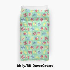 20% OFF Duvet Covers at Redbubble thru 06 Mar 2017 with code GOGREEN20. https://www.redbubble.com/people/debidalio/shop/duvet-covers #homedecor #bedding #summer #colorful #pattern #StudioDalio