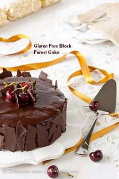 Gluten Free Black Forest Cake recipe #glutenfree via deliciouseveryday.com