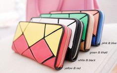 4 colorsleather long wallet leather wallet von YJsupercasewallets, $25.99