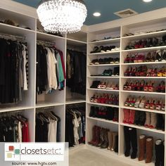 Your dream walk-in CUSTOM closet is just a call away! We know how hard it is to find everything in a cluttered space, so we build a place for everything! Let us help you #getorganized