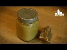 Make a natural beeswax and olive oil wood finish - YouTube