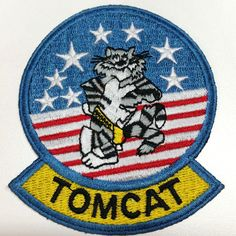 F-14 TOMCAT US Navy Fighter Squadron Jacket Sew On Patch Grumman #Unbranded #ad
