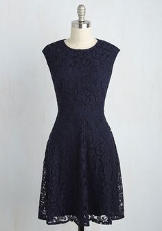 A Tell-Cocktail Sign Lace Dress. By fancying up in this lace dress, you indicate how ready you are to hit the town! #blue #modcloth