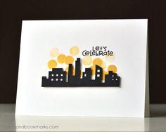 Let's Celebrate card by Tasnim - Paper Smooches - Metropolis stamp set