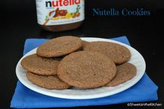 Shweta in the Kitchen: Eggless Nutella Cookies