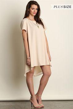 Celeste High-Low Shift Dress - Ivory