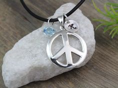 Hey, I found this really awesome Etsy listing at https://www.etsy.com/listing/160788560/sterling-silver-peace-sign-necklace