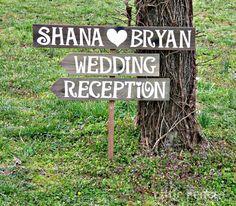 Wedding Arrow Signs Wood Wedding Signs by CountryWeddingSigns, $75.00