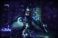 Batman (Christian Bale) on the Batpod in TDKR...PRETTY!! :)